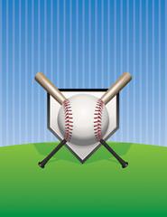 Baseball Background Illustration