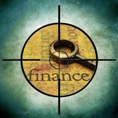 Finance target concept