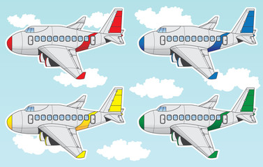 cartoon airliner set
