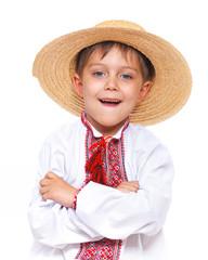 Boy in the national Ukrainian costume