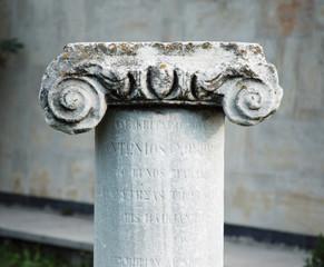 ancient stone classic column