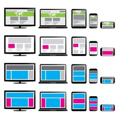 Illustration of Wireframe Fluid Web Design