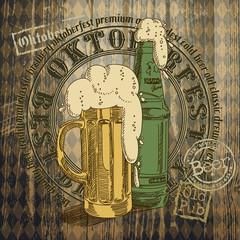 beer background Oktoberfest