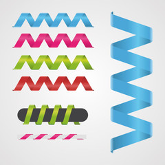 Spiral ribbon vector illustration