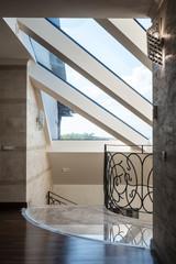 Skylight in modern home interior