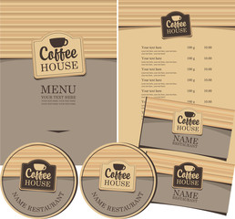 set for the coffee house menu