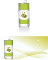 Nonalcoholic kiwi drink