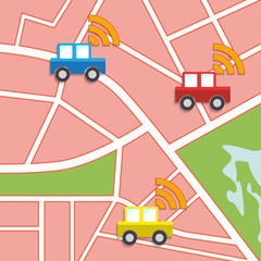 Vector car sharing illustration