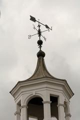 Wind vane on top of tower