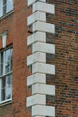 Corner brick detail
