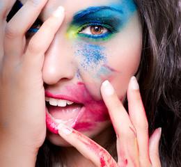Maquillaje de colores