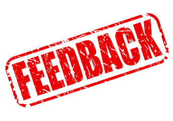 Feedback red stamp text
