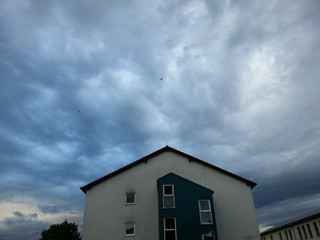Ein Gewitter zieht auf