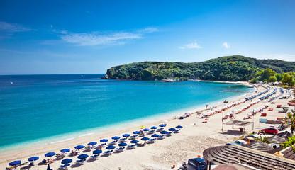 Beautiful Valtos beach near Parga town, Greece.