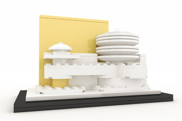 Guggenheim museum made by plastick bricks
