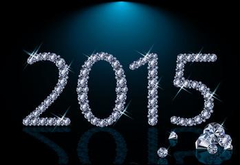 New 2015 diamond year, vector illustration
