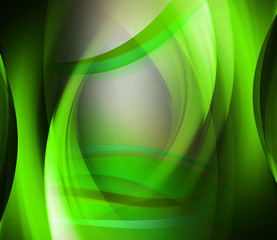 Abstract background green wave