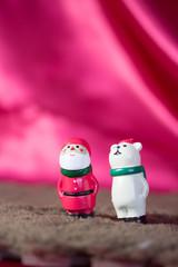 Santa Claus&polar bear