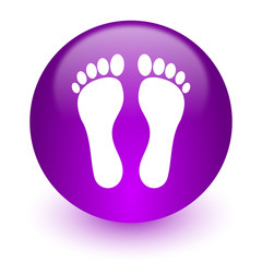 foot internet icon