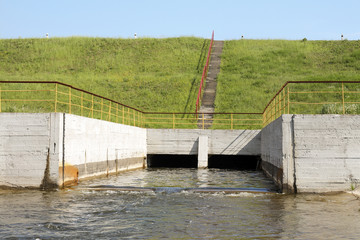 Floodgates of a small dam