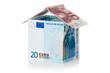 House made of euro money