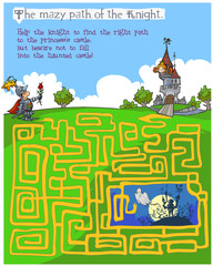 Fairytale children's Maze game