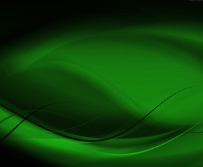 Abstract line and curve green background