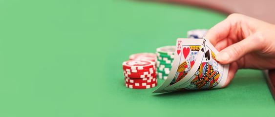 Poker spielen - Aktion