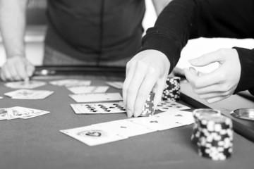 Pokerspiel schwarzweiß