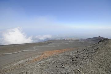 View of the volcano Etna in Sicily