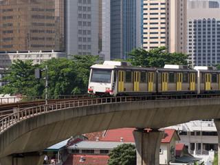 Light Rail Train in Kuala Lumpur, Malaysia