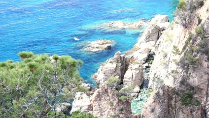 Cliffs of the Costa Brava in Girona, Spain