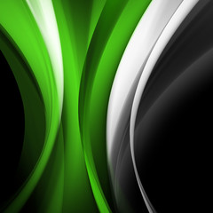 Green wave abstract background