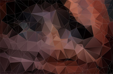 Abstract brown 2D polygonal background