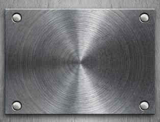 Polished metal plate