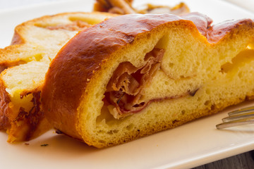 Panbrioche with bacon