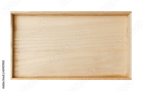 canvas print picture Wooden frame isolated on white