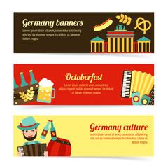 Germany travel banner set