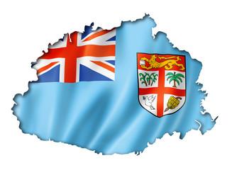 Fijian flag map