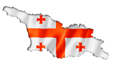 Georgian flag map