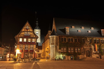 Quedlinburg at night, Germany