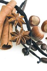 Vanilla pods, cinnamon and anise, hazelnut and coffee