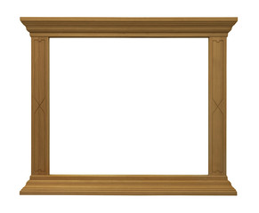 wide wood isolated frame