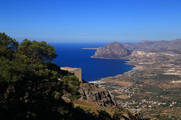 Baia di Cornino vista da Erice (Sicilia)
