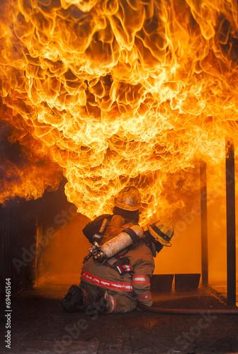 Fire fighting .