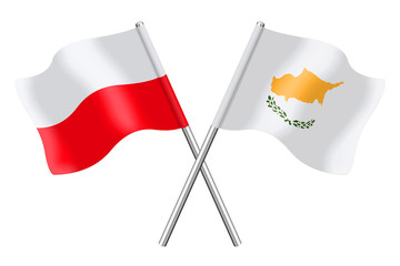 Flags: Poland and Cyprus