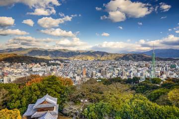 Matsuyama, Japan cityscape