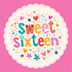 Sweet Sixteen card