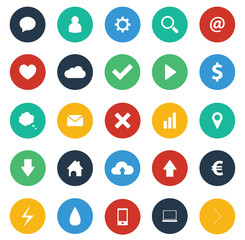 Flat design icons pack