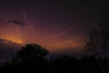 Electrical Storm at Night